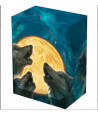 Deckbox 3 Loups lune Boite plastique 10 x 7.7 x 5.8 cm pour jeux de cartes
