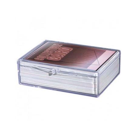 Boite plastique cristal 50 à 65 cartes à jouer - transparente vide