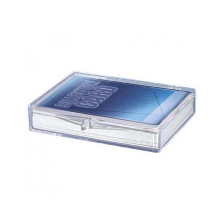 Boite plastique cristal 35 cartes à jouer transparentes vide