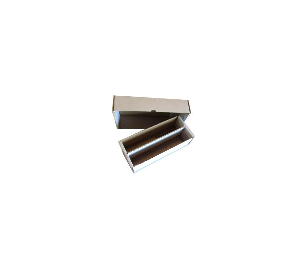 Boite carton blanc marron 2 compartiments 2000 cartes