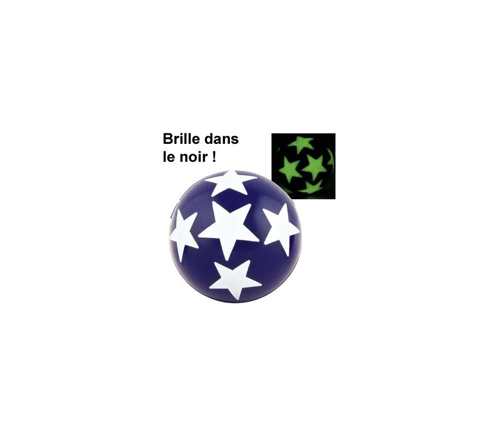 Balle étoile 4.3 cm rebondissante qui brille dans le noir à l'unité