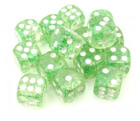 Dé à jouer paillettes vert pour jeux de société