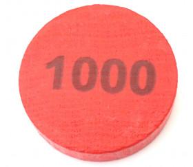 Pion 1000 - Palet bois 5 cm rouge 52 x 13 mm à l'unité