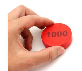 Pion bois 1000 Belote - Palet bois 5 cm rouge 52 x 13 mm à l'unité