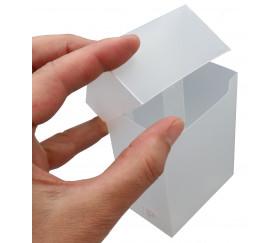 Deck box - Boite cartes de jeux - plastique transparent 9.5 x 7 x 4.5 cm ultrapro