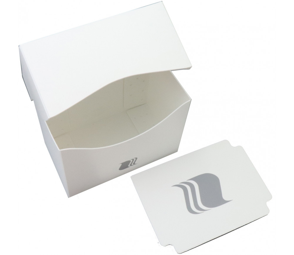 Deck box HORIZONTAL - Boite cartes de jeux - plastique blanc