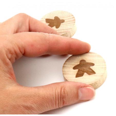 Palet en bois meeple 4 cm diamètre pion de jeux