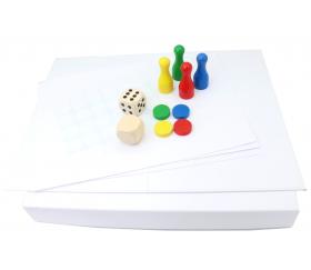 Kit 3 Géant : créer votre jeu avec pions et dés géants