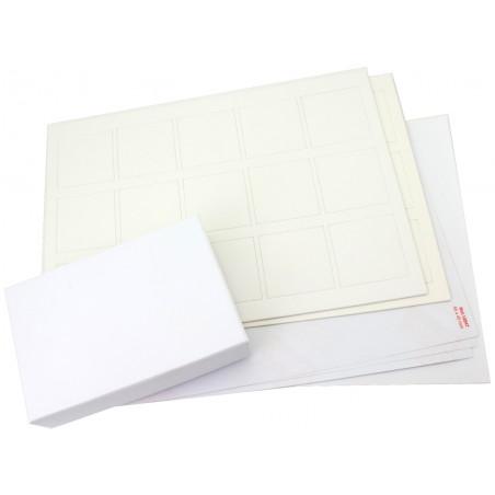 Kit jeu mémo blanc : boite + 30 cartes mémo + accessoires personnalisation