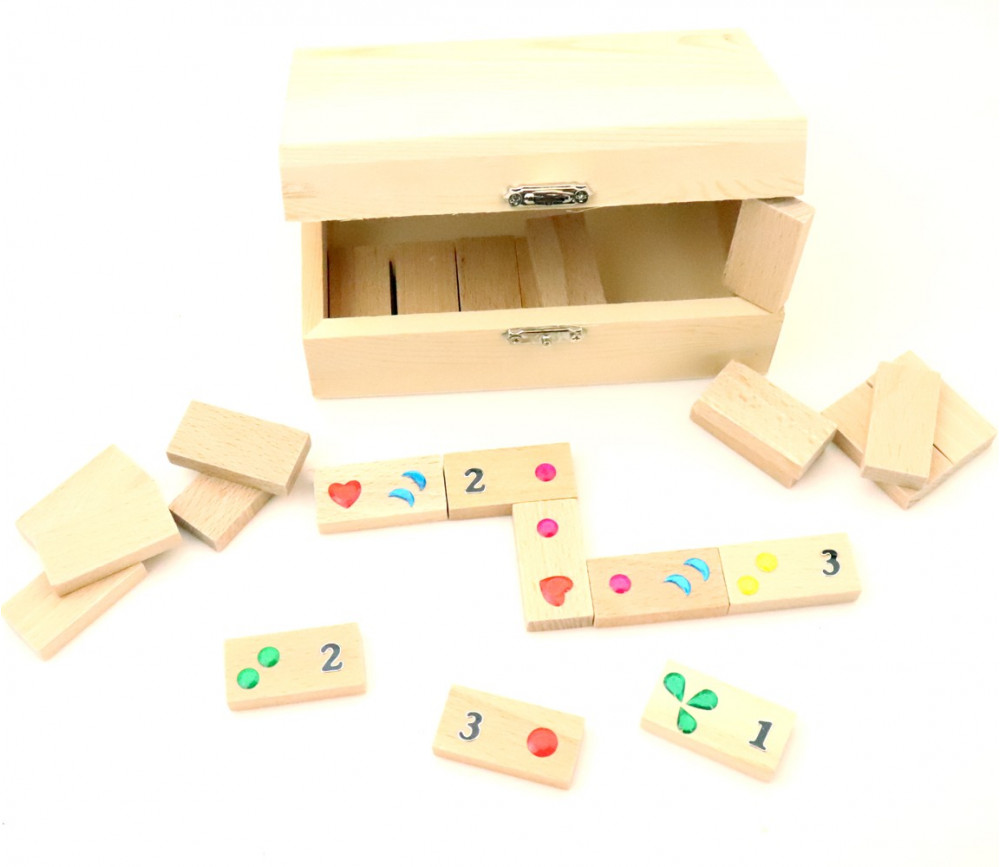 Kit coffret petits dominos en bois à personnaliser