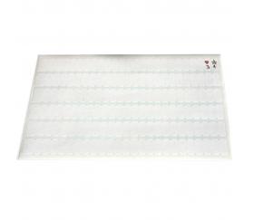 144 Mini pastilles 8 x 20 mm rectangulaires - 144 étiquettes