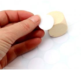 40 étiquettes 24 mm rondes autocollantes blanches pastille
