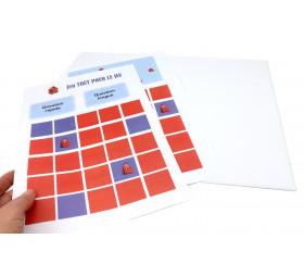 feuille neutre à imprimer et plateau de jeu neutre