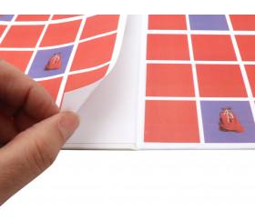 Collage du plateau de jeu pour personnalisation de votre jeu de société.