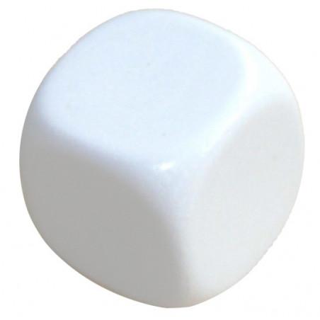 Dé plastique neutre 16 mm à personnaliser blanc