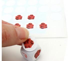 96 pastilles autocollantes blanches 15 mm