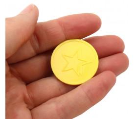 Jeton 29 mm étoile jaune pour jeux de société