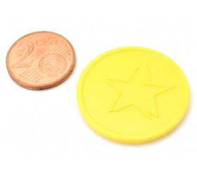 Jeton 29 mm étoile jaune