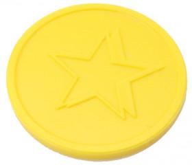 Jeton 29 mm étoile jaune pour jeux