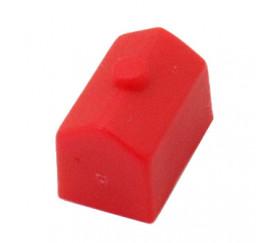 Pion maison rouge plastique pour jeu de société