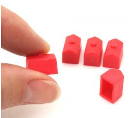 Pion maison rouge plastique pour jeux
