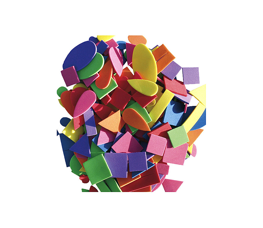 200 formes en mousse fine de 1 à 4 cm