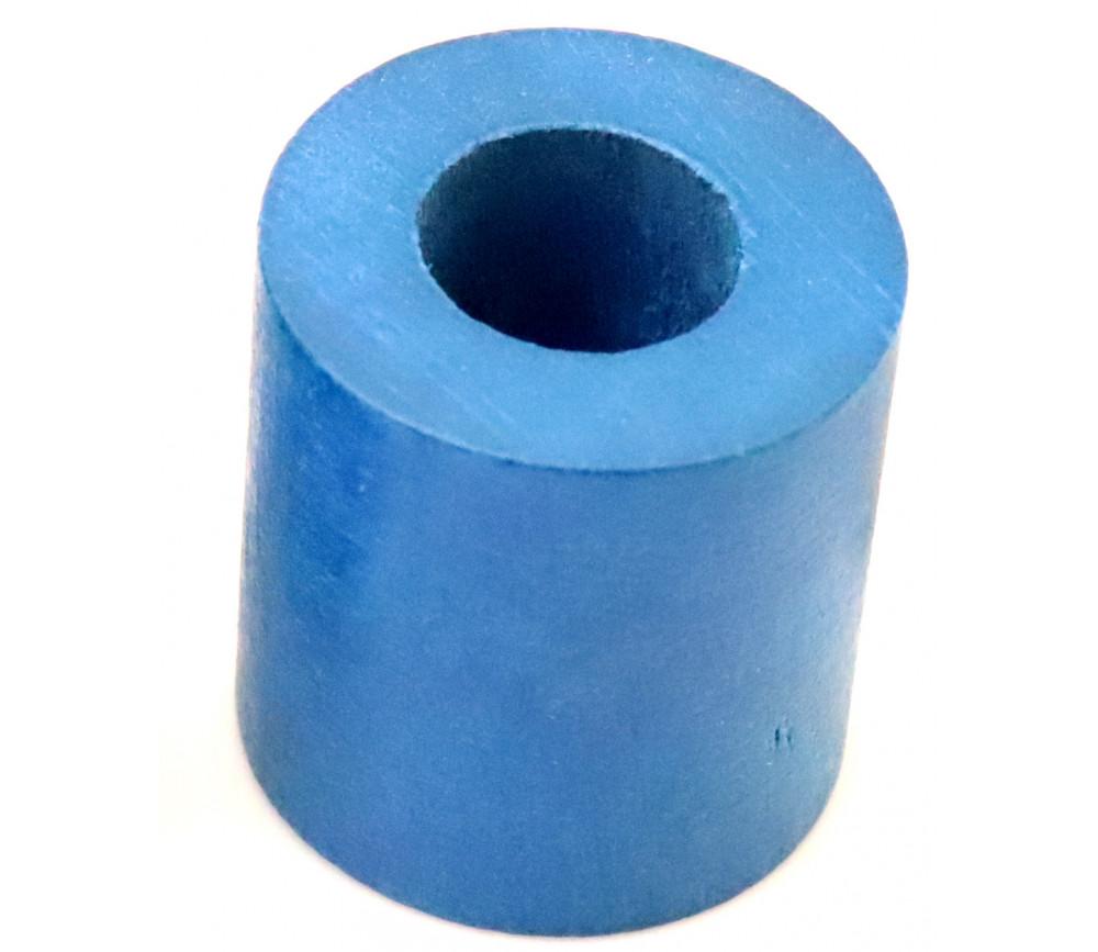 Cylindre troué diam 2.9 cm haut 3 cm anneau en bois bleu