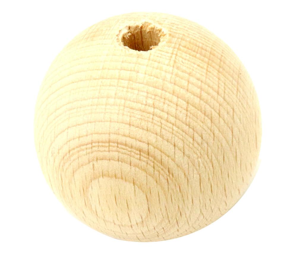 Boule bois 50 mm trouée hêtre bille 5 cm diamètre trou 8 mm
