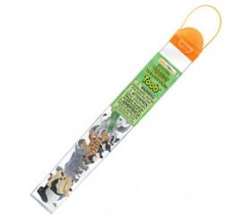 11 Animaux Sauvages ZOO dans un tube de rangement