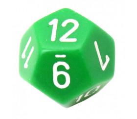 Dé 12 faces pour jeu opaque D12 standard vert