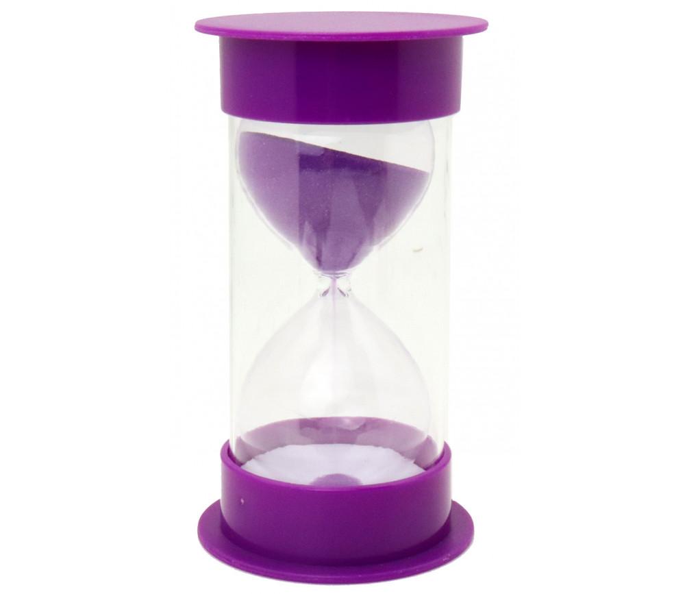 Grand sablier 10 Minutes - 12.5 cm x 6.5 cm Super lisible violet