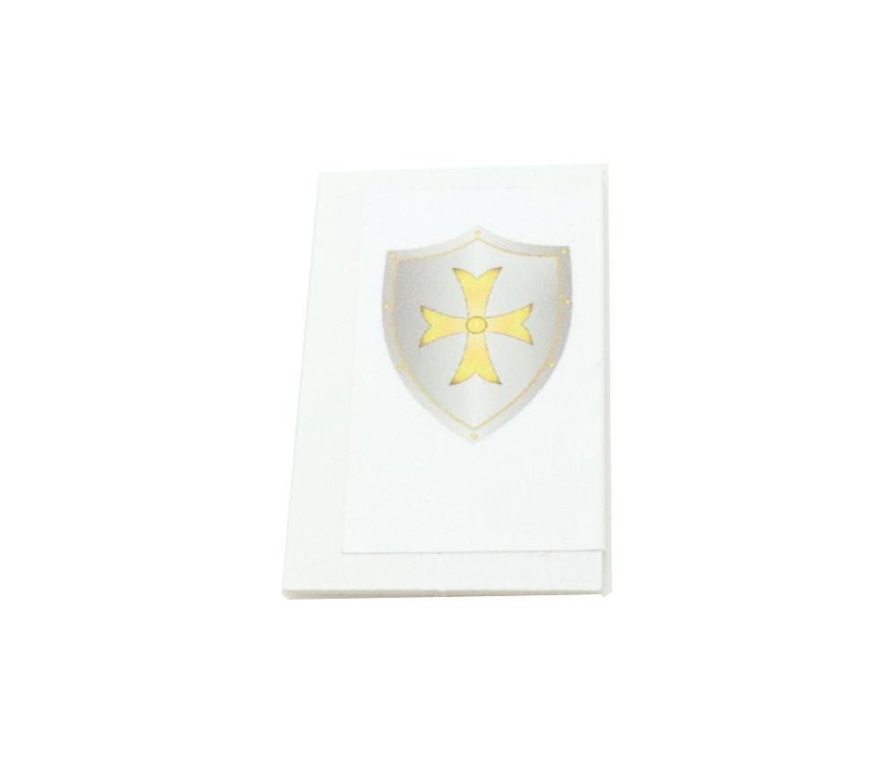 Tuile carton bouclier écusson 24 x 40 mm