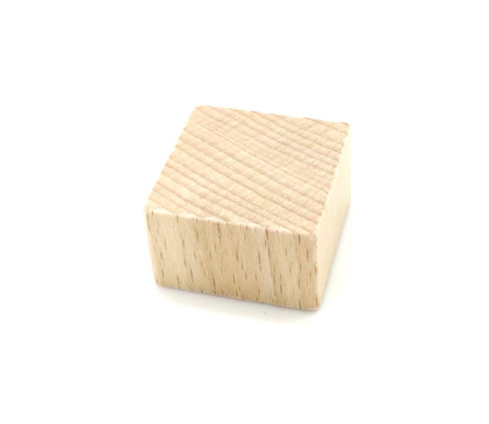 Pavé bois naturel 25 x 25 x 15 mm à l'unité