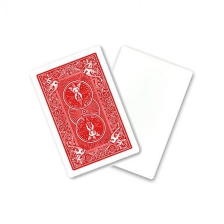 Cartes à jouer recto blanc et verso rouge
