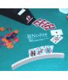 Porte-cartes à jouer arrondi en bois pour jeux
