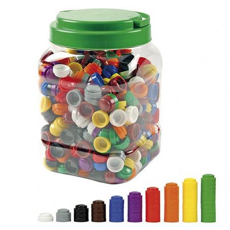 500 Pions empilables de couleur pour jeux 20 x 10 mm