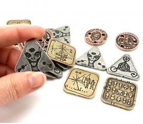 24 Pièces métal Alien pour jeux stratégie et jeux de rôle. Coins