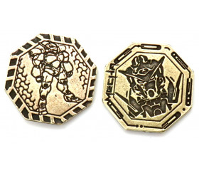 Pièces métal doré Manga Legendary pour jeux