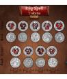22 Pièces métal RPG Spell Tokens