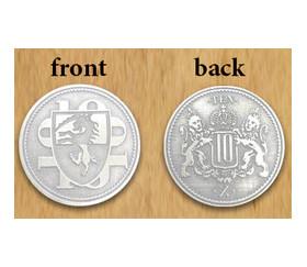 Pièce Platinum métal unité valeur 10