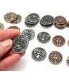 set 30 Pièces métal CREATURE unit legendary metal coins