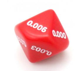 Dé décimal millième 0.001 0.002 0.003 0.004 0.005 0.006 0.007 0.008 0.009
