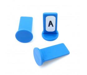 Pion personnalisable support bleu à l'unité
