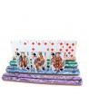 4 portes cartes bois pour jeu 29 x 3 cm colorés