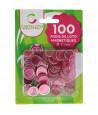 Pions roses pâles magnétiques ronds loto super qualité - 100 jetons