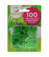 Pions verts magnétiques ronds loto super qualité - 100 jetons