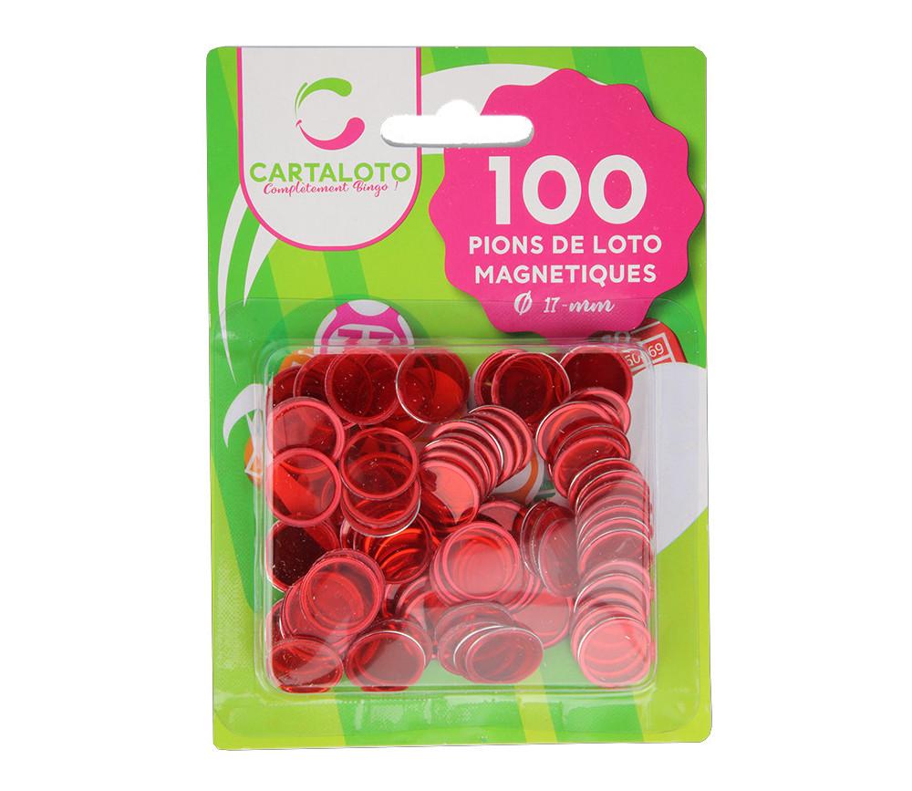 Pions magnétiques ronds rouges pour loto super qualité lot de 100