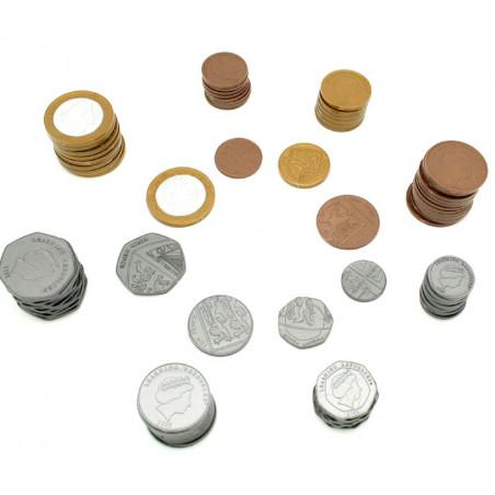 750 Pièces argent UK - LIVRES sterling anglais en plastique monnaie très réaliste