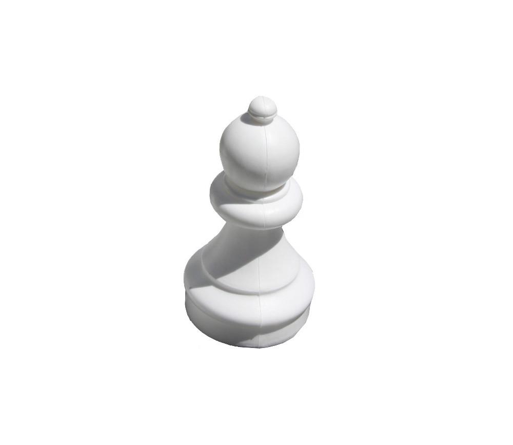 Pion géant hauteur 20.5 cm PVC échec unité blanc