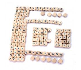 Jeu de cubes lettres en bois 145 pièces - jeu de mots